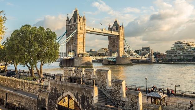 Beautiful shot of a tower bridge in london uk Free Photo