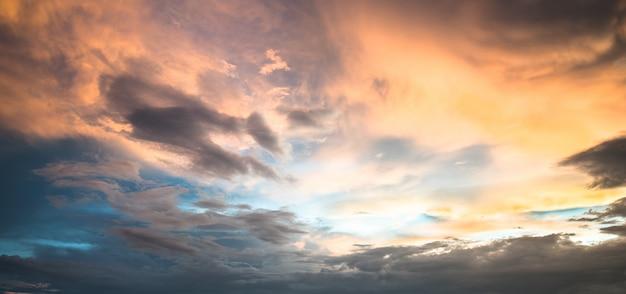 Beautiful sky with cloud sunset Premium Photo