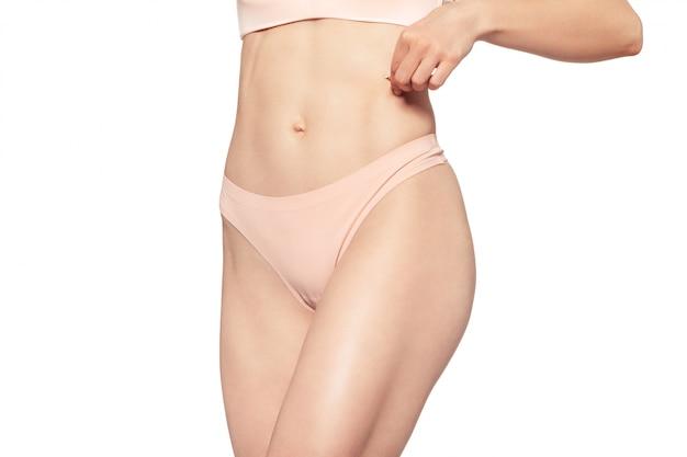 Beautiful slim woman body Premium Photo