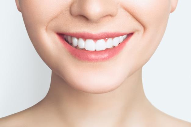 Premium Photo   Beautiful smile with white teeth