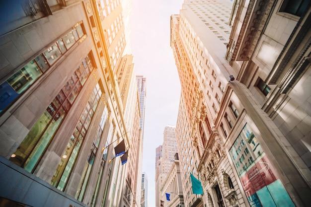 Beautiful street of new york city and america Premium Photo