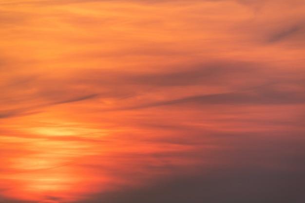 Beautiful sunset. evening sundown. red yellow atmosphere sky. Premium Photo