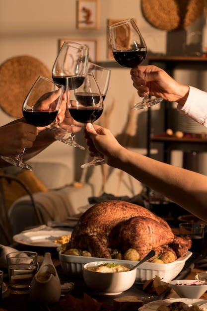 Beautiful thanksgiving meal concept Premium Photo