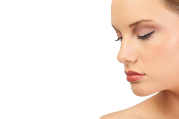 Beautiful unsmiling model posing Premium Photo