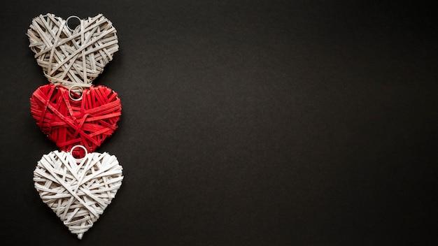 Красивая концепция дня святого валентина с копией пространства Бесплатные Фотографии