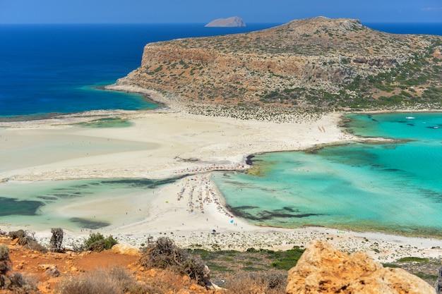 Beautiful View Of Balos Lagoon In Crete Island Greece Photo