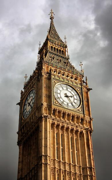 Beautiful view of big ben, london Premium Photo