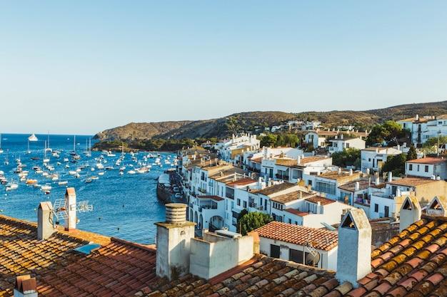 Beautiful view of cadaques in summer. small catalan village in cap de creus (catalonia, spain) Premium Photo