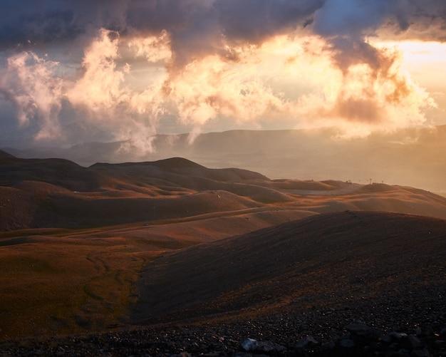 Bella vista dalle montagne erciyes a kayseri in turchia Foto Gratuite