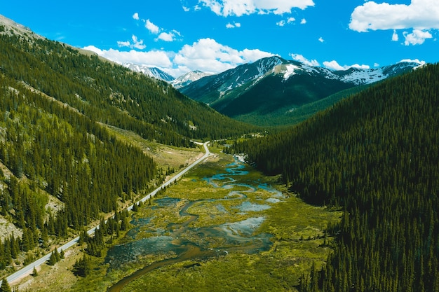 Beautiful view of the independence pass in colorado Free Photo