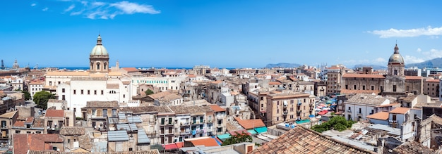 Beautiful view of palermo from san nicolo tower, sicily Premium Photo
