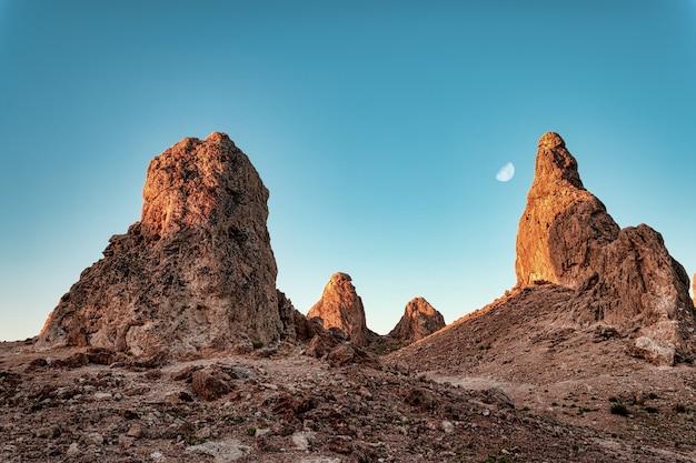 Beautiful view of the trona pinnacles in california Free Photo