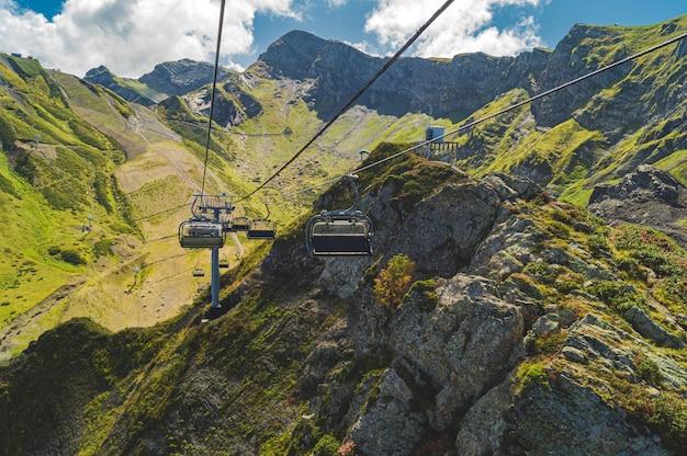 Beautiful views in krasnaya polyana Premium Photo