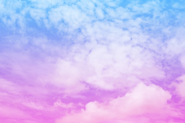Beautiful vintage of colorful cloud and sky abstract for background, soft color and pastel color Premium Photo