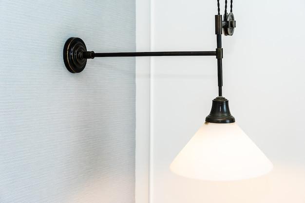 Beautiful vintage light lamp decoration interior Free Photo