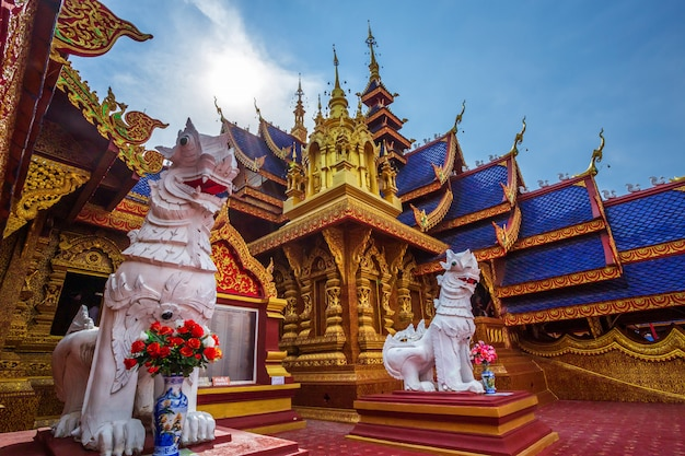 The beautiful of wat pipatmongkol is a buddhist temple Premium Photo