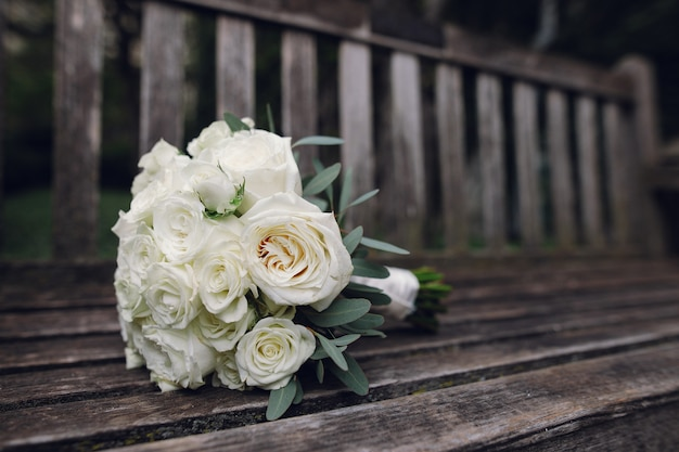Beautiful wedding bouquet of flowers Free Photo