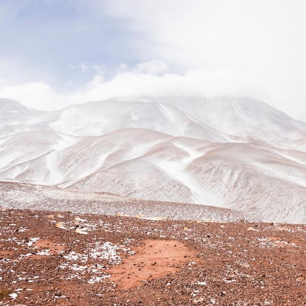 Beautiful white mountain landscape Free Photo