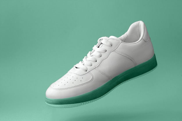 Beautiful white sports sneaker Premium Photo