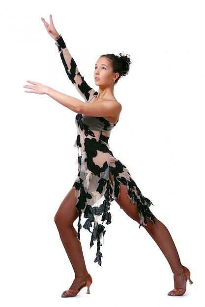 Beautiful woman dancin latin dance Free Photo