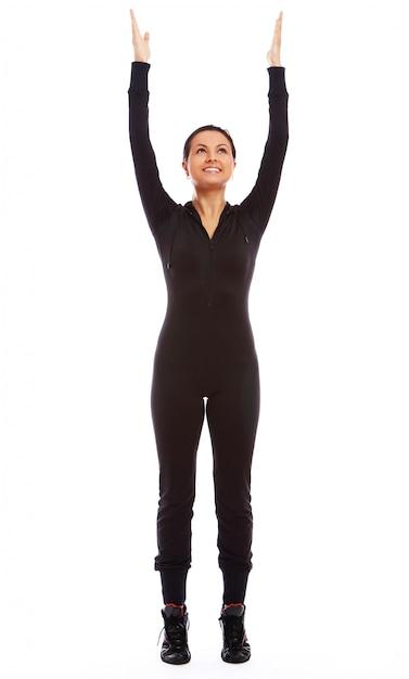 Beautiful woman doing fitness exercises Free Photo