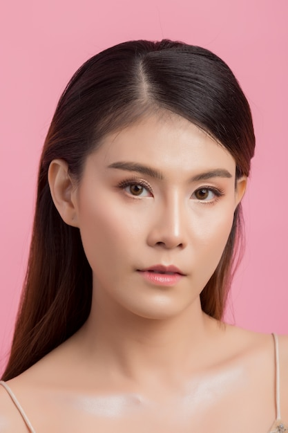 Beautiful woman face Free Photo