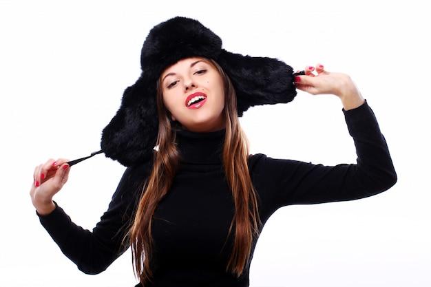 Beautiful woman in hat Free Photo