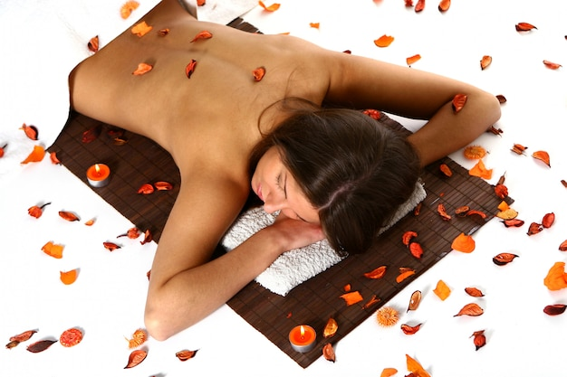 Beautiful woman in relaxation athmospher Free Photo