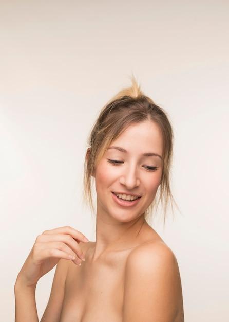 Beautiful woman smiling portrait Free Photo