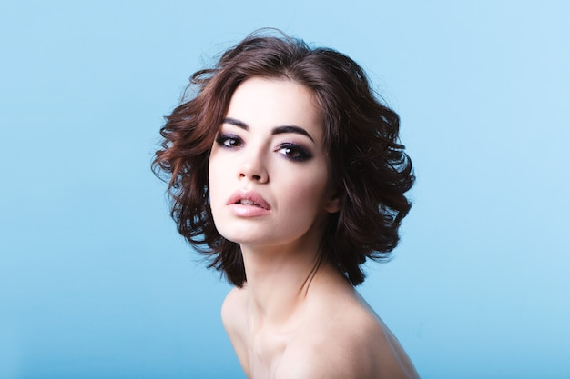 Beautiful woman with clean skin isolated Premium Photo