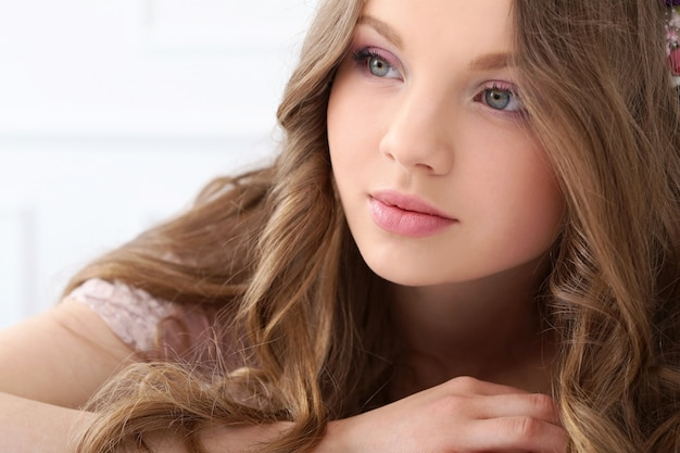 Beautiful woman with cute face Free Photo