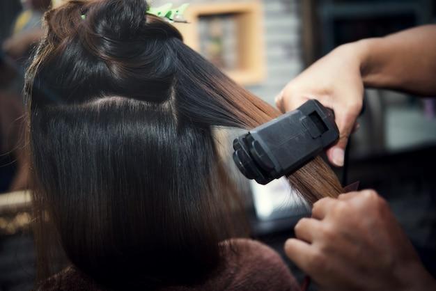 Beautiful women's haircut Free Photo