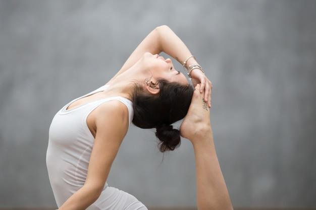 Beautiful yoga backbend Free Photo