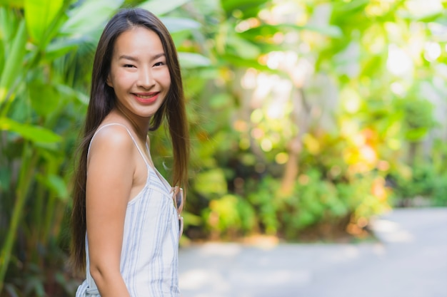 Beautiful young asian woman happy smile life style Free Photo