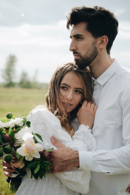 Beautiful young couple in love Premium Photo