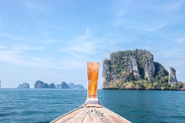 Beauty of the landscape in the summer holiday  of sea krabi, thailand Premium Photo