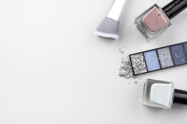 Beauty products with copy space Free Photo