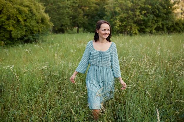 Beauty romantic woman outdoors Free Photo