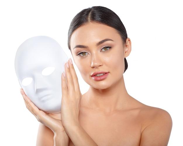 Beauty skin care concept, beautiful woman face Premium Photo