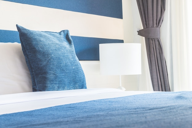 Bed pillow in luxury hotel Free Photo
