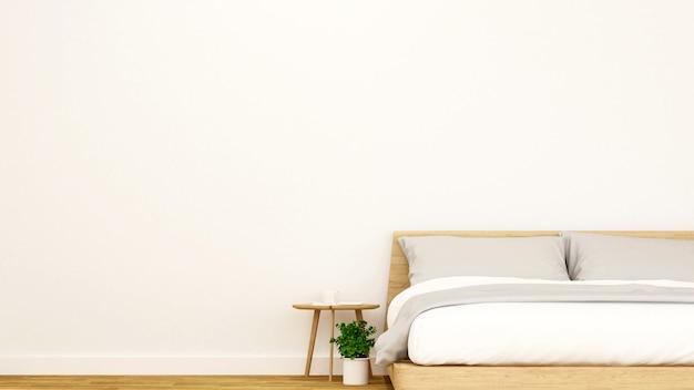 Bedroom in apartment or home. Premium Photo