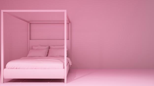 침실 아트 3d 렌더링-방 색상 프리미엄 사진