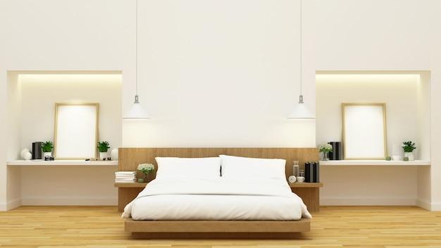 Bedroom decoration - 3d rendering Premium Photo