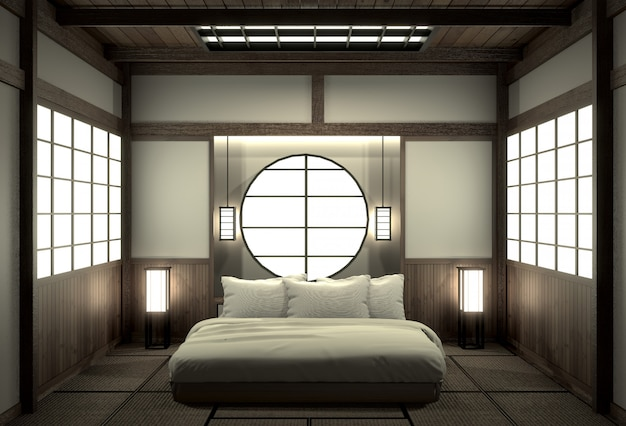 Bedroom Modern Zen Interior Design With Decoration Japanese Style Premium Photo
