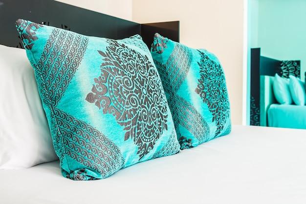 Bedroom pillow decoration in bedroom Free Photo