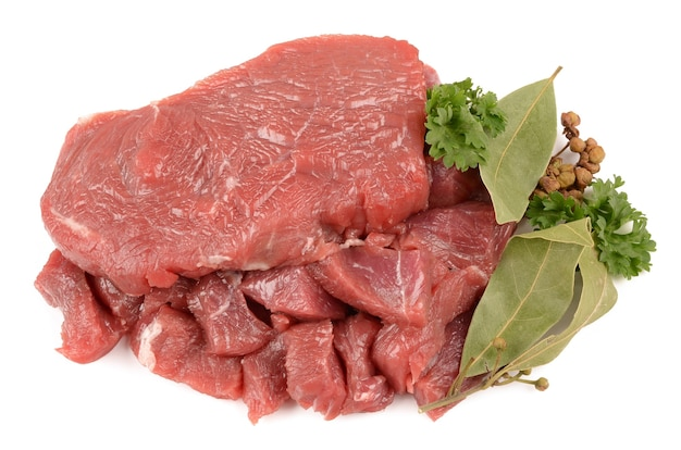 향신료와 쇠고기 프리미엄 사진