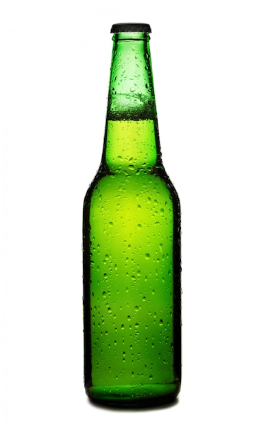 Beer bottle isolated Premium Photo
