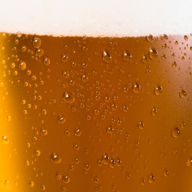 Beer glass close up Free Photo
