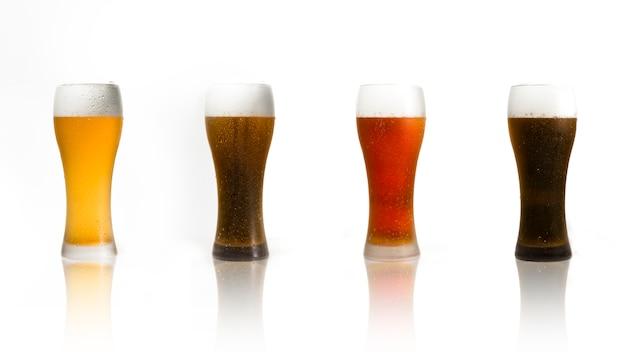 Beer glasses line Free Photo