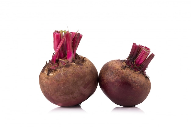 Beetroot isolated on white background Premium Photo